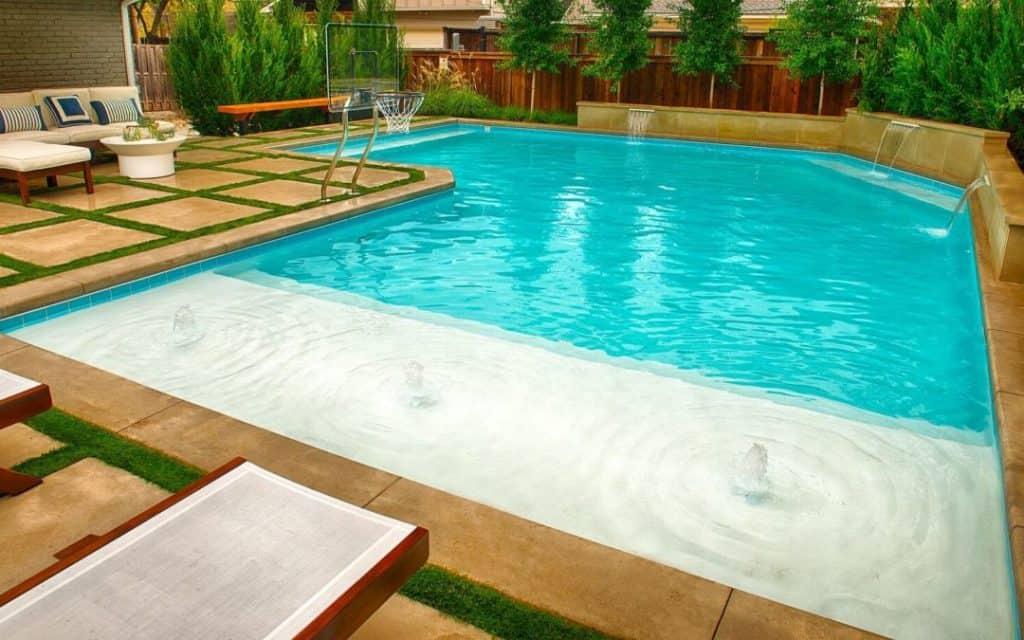 Elegant Pool Design In Dallas Bellewood Drive