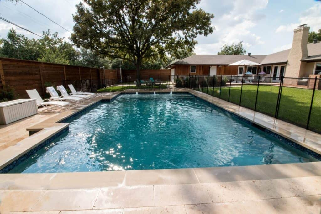 Custom rectangular backyard pool