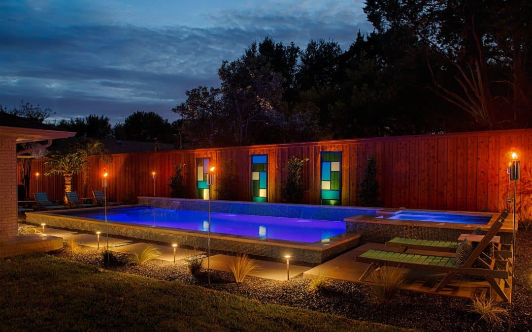 Backyard Oasis with Pool and Outdoor Fireplace