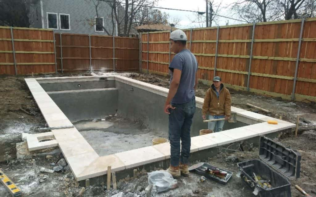 Shotcrete Phase of a New Pool Build