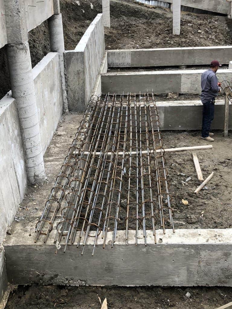 Construction of commercial concrete pool