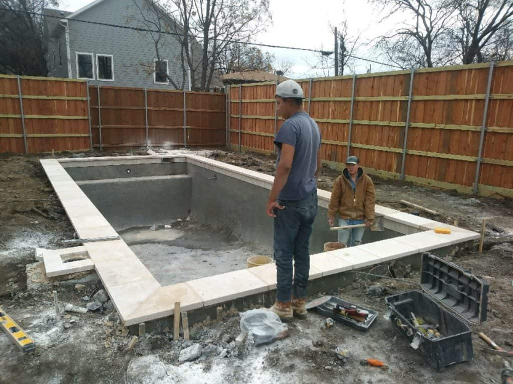 Shotcrete Phase of a New Pool Build