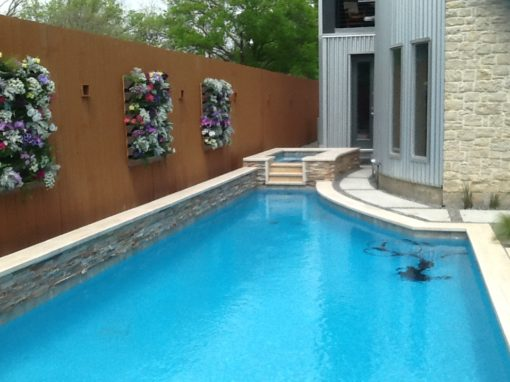 After photo of a clean rectangular pool