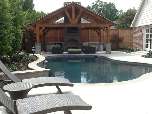 Outdoor living spaces for your dallas home summerhill pools - Outdoor living spaces with fireplace ...