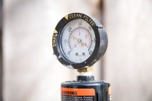 A pool filter gauge.